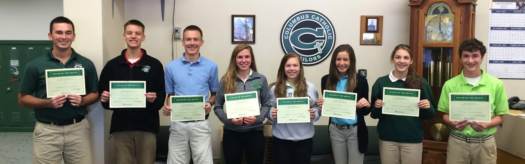 ColumbusCatholic-PrivateDay-Iowa-USA-Studentsandcertificates