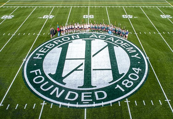 Aerial View of Field Hockey Team on the Field at Hebron Academy Maine