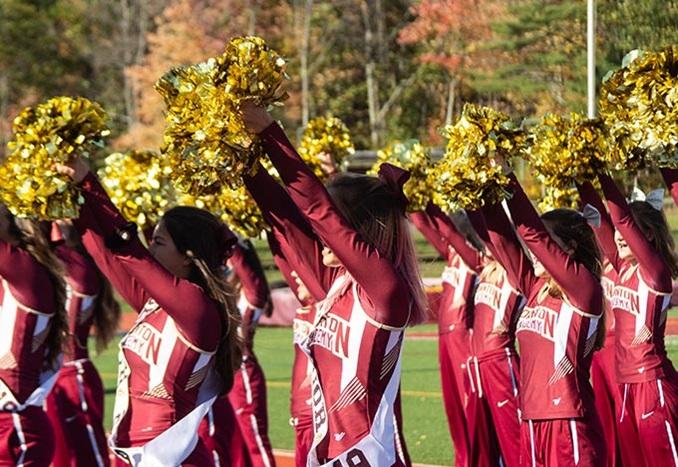 cheerleading at Thornton Academy in Maine USA