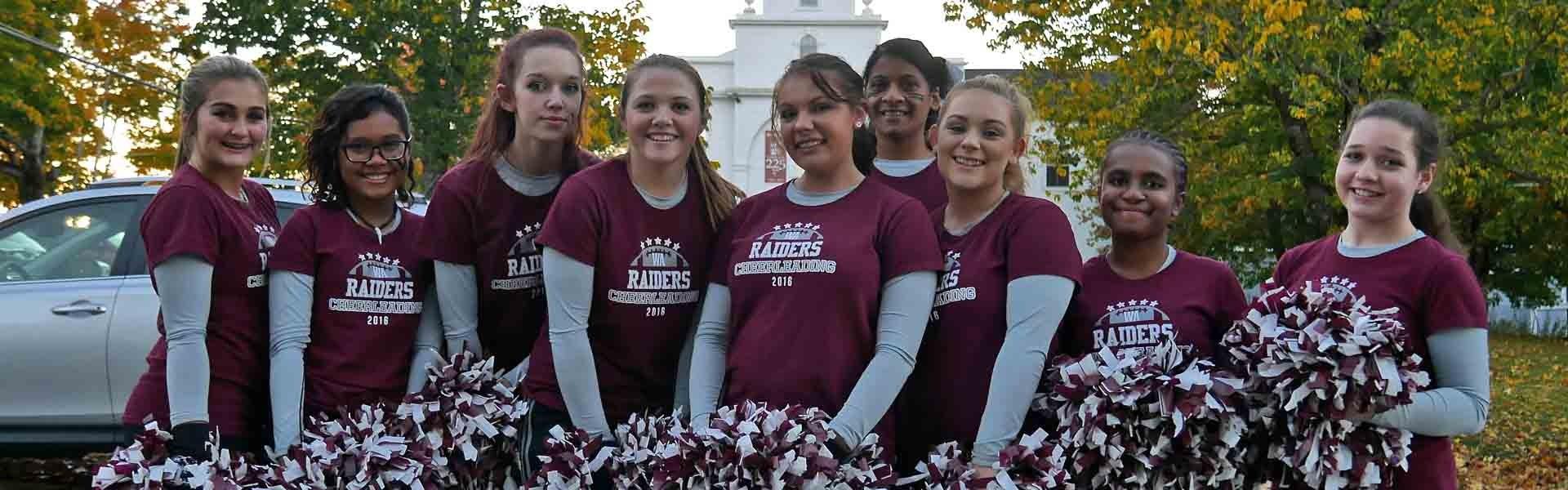 Washington Academy Maine USA Cheerleaders Banner 2019