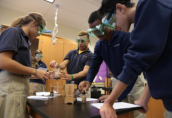 Our Lady Of Good Counsel High School Maryland USA STEM class on campus