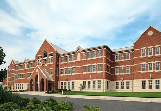 campus at Our Lady Of Good Counsel High School in Maryland USA