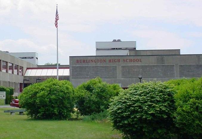 Burlington High school Massachusetts Building thumbnail USA 2019