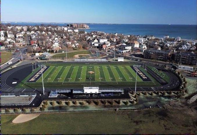 Winthrop High School Sports Field in Massachusetts USA