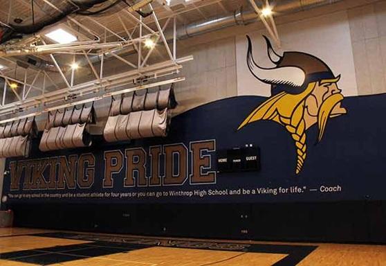 Winthrop High School Gym in Massachusetts USA