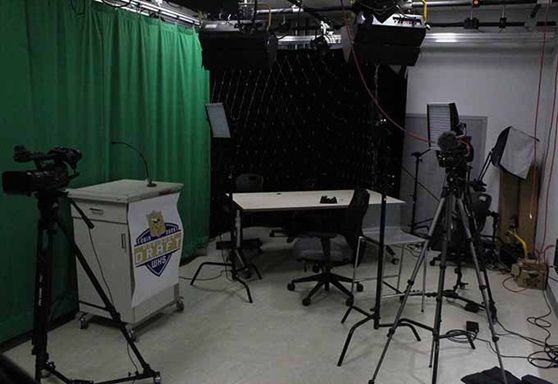 Winthrop High School Video Production Green Room in Massachusetts USA