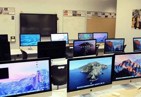 Winthrop High School Computer Lab in Massachusetts USA