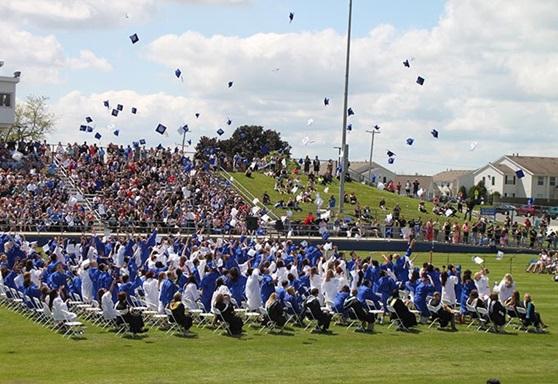 Graduation at Adrian High School