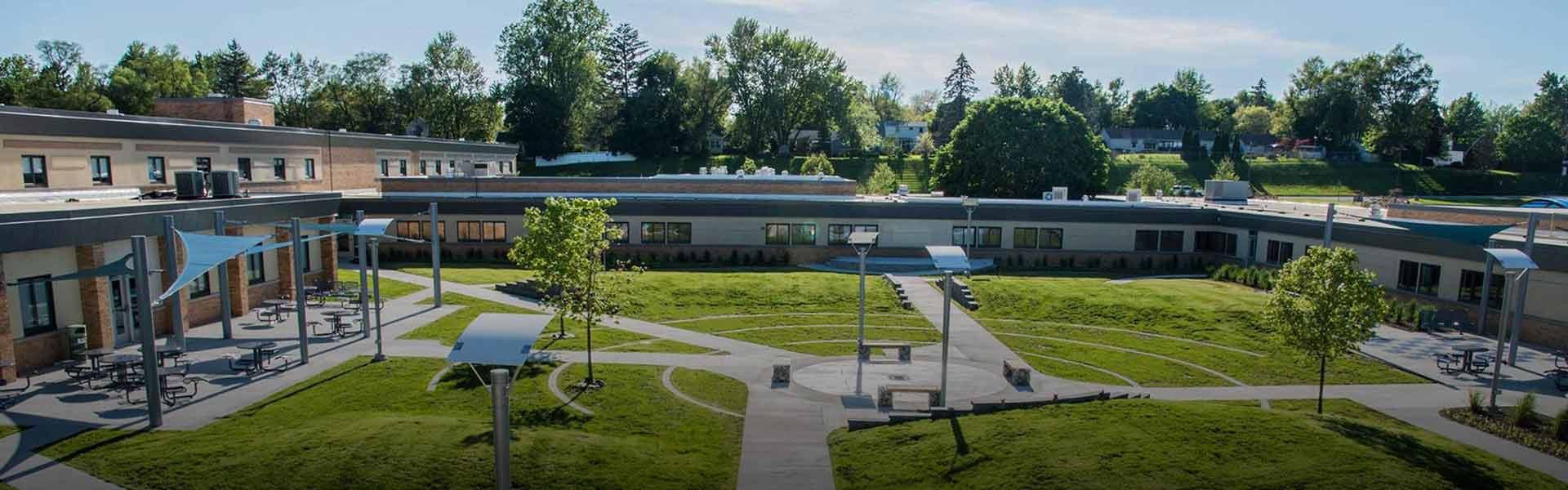 Campus picture of Adrian High School in Michigan