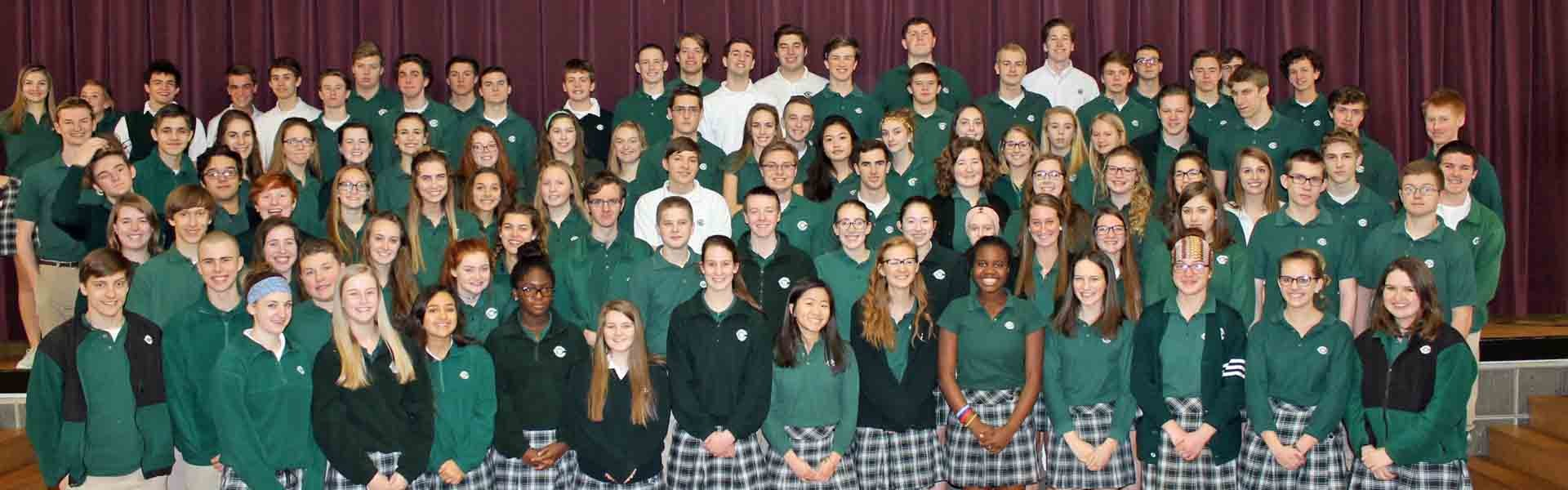West Catholic Michigan USA Group Banner 2019