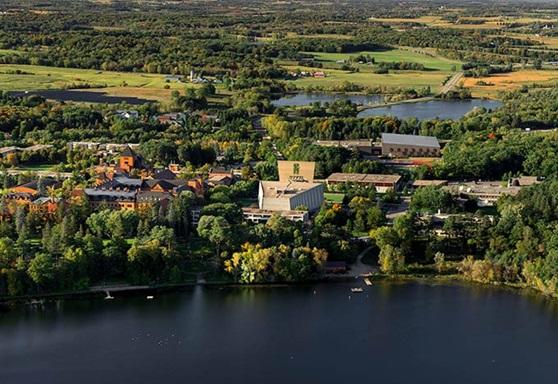 Aerial Picture of Saint John's Prep High School in Minnesota USA