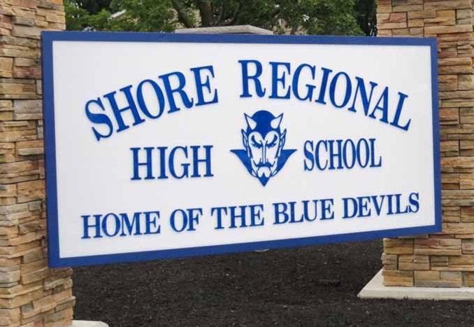 Shore Regional High School NJ USA Sign Thumbnail 2019