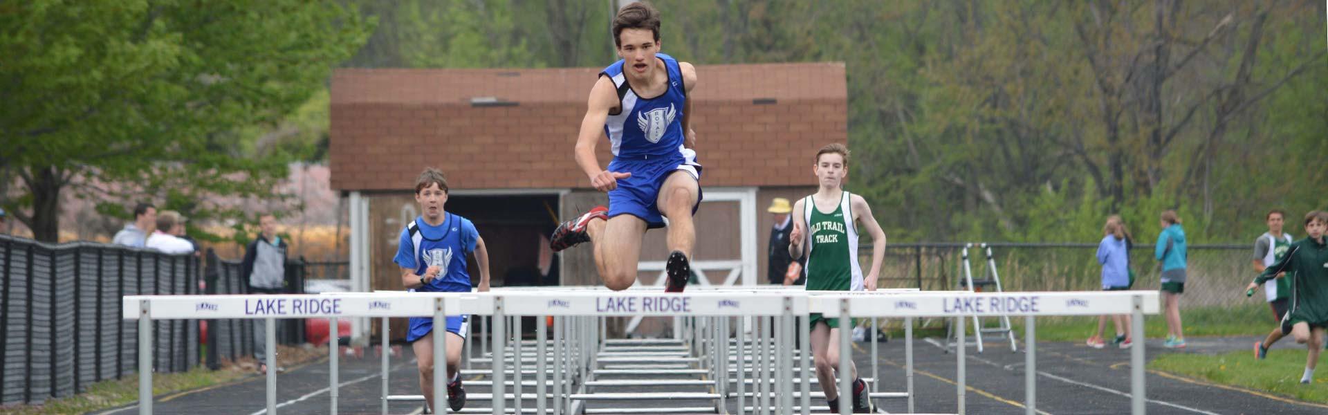 Lake Ridge Academy track students
