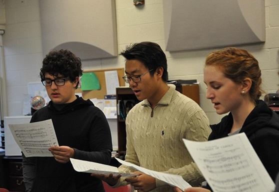 Lake Ridge Academy students at Choir class