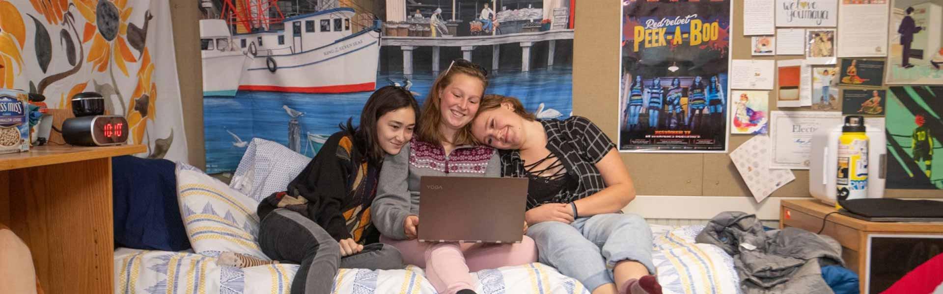 Girls smiling Vermont Academy